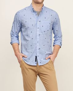 Mens - Patterned Dobby Shirt   Mens - Shirts   eu.Abercrombie.com