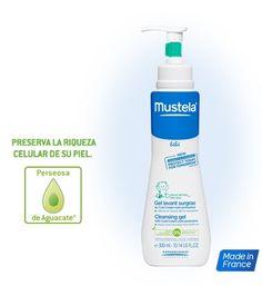 Gel lavante com Cold Cream para a pele seca dos bebés | Mustela