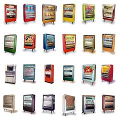 Art-O-Mat vending machines are retired cigarette machines. There are about 90 in the US. I've bought Art from the one at the Temporary Contemporary in L. Cigarette Vending Machine, Art O Mat, Old Candy, Point Of Purchase, Repurposed Items, First Art, Vintage Games, Retro Futurism, Retail Design