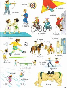 Sports and Weather-In this pin are different kinds of sports in French and their…