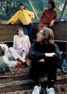 Richard Starkey, George Harrison, Paul McCartney, and John Lennon