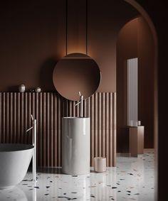 Interior Design Toilet, Toilet Design, Bathroom Design Luxury, Wc Design, House Design, Washbasin Design, Restaurant Bar, Interior And Exterior, Room Decor