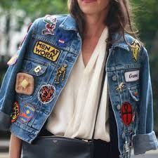 10 Ridiculously Cool Iron-On Patches to Customize Your Denim Jacket - Jeans Jacket - Ideas of Jeans Jacket - 10 Ridiculously Cool Iron-On Patches to Customize Your DenimJacket Look Patches, Cool Iron On Patches, Denim Jacket Patches, Patched Jeans, Denim Jackets, Patch Jean Jacket, Jean Jackets With Patches, Diy Patches, Fashion Mode