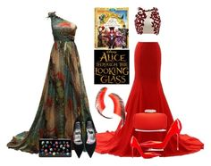 """Alice"" by alice-durica ❤ liked on Polyvore featuring Oscar de la Renta, Edie Parker, Beauty Is Life, contestentry and DisneyAlice"