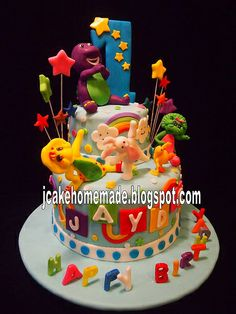 Barney cake.. he would love this!
