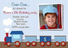 Train Birthday Party Invitations by LollipopPrints on Etsy