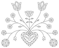 Embroidery pattern from a design from the 1700s.
