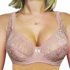 $79 ELOMI 44-DDD White ENERGISE Sports Bra Full Coverage UNDERWIRE FREE SHIPPING