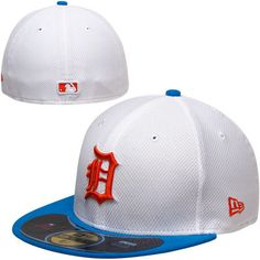check out 19f6f a304d New Era Detroit Tigers Diamond Era Pop 59FIFTY Fitted Hat - White Royal Blue