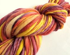 Thick and Thin yarn, Autumn soft reds, oranges, mustard yellows and purples, knitting yarn, chunky merino knitting wool, big knitting wool -    Edit Listing  - Etsy
