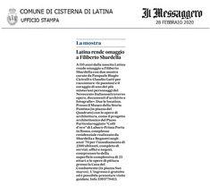 In mostra a Latina ( Il Messaggero - 2020 ) Latina, Words, Horse