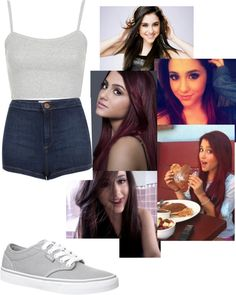 """""""outfit of the day: ariana grande style"""" by shermeacka ❤ liked on Polyvore"""