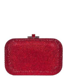 Crystal Slide-Lock Clutch Bag, Siam by Judith Leiber Couture at Neiman Marcus.