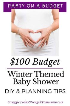 A winter themed baby shower on a $100 budget. Diy and planning tips to help cut costs and not cut any of the fun. Click through to see this party on a budget. #budget #savingmoney #diy #wintertheme #babyshower #pregnant #partybudget #partyplanning Saving Tips, Saving Money, Baby On A Budget, Baby Shower Winter, Ways To Save Money, Money Tips, Baby Shower Themes, Shower Ideas, Diy Party Decorations