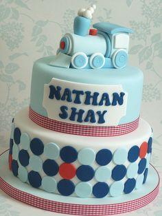 Train Christening Cake by The Designer Cake Company, via Flickr