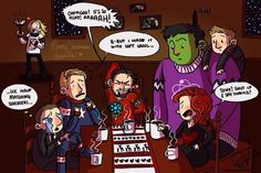 Thor's hammer<<< i was just about to say that, look at coulson with his matching sweater