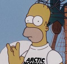 Homer rockin an Arctic Monkeys shirt. Arctic Monkeys Wallpaper, Monkey Wallpaper, Arctic Monkeys Lyrics, Alex Turner, The Simpsons, Matt Helders, Monkey 3, The Last Shadow Puppets, Lol
