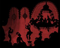 "Maudit aka Michael Pitt - Lotte Reiniger aka Charlotte ""Lotte"" Reiniger (German, 1899-1981) The Adventures of Prince Achmen, 1926, German"