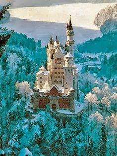 Neuschwanstein castle in Bavaria Germany