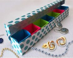 DIY Paper Craft : How to Make Colourful Paper Origami Jewellery Box. Model by: Paper Kawaii, Original Video: . In this DIY craft tutorial you will learn Origami Box With Lid, Origami Box Tutorial, Diy Tutorial, Paper Crafts Origami, Easy Paper Crafts, Paper Crafting, Diy Crafts, How To Make Origami, Origami Easy