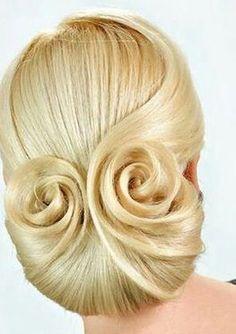 M Dance Hairstyles, Elegant Hairstyles, Bride Hairstyles, Vintage Hairstyles, Pretty Hairstyles, Updo Hairstyle, Peinado Updo, Easy Hair Up, Ballroom Hair