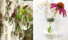 Passo a Passo de primavera: vasos de lâmpada
