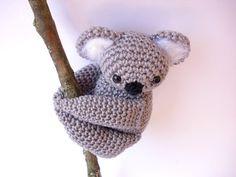 Koala gefüllt Tier Koala Plüsch häkeln Koala von Crochetonatree