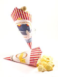 Circus Party Favor Cone  Elephant & Tiger by HomemadeHappinessNL, $2.64