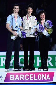 Javier Fernandez(Spain), Yuzuru Hanyu(JAPAN) and Shoma Uno(JAPAN) : GPF 2015