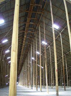 Murtoa Stick Shed central interior, 2012   via Culture Victoria