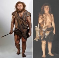 2008 - Neanderthal Male & Female - reconstructions by Elisabeth Daynès