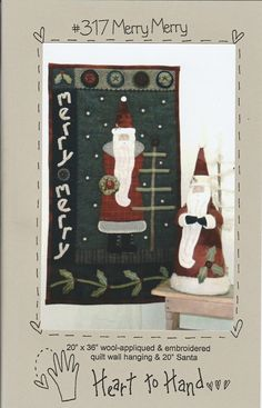 Merry Merry by LavenderQuiltShop on Etsy