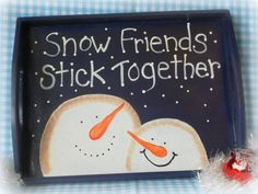 pinterest, primitive wood crafts   2012 LisasCraftiques, Hand Painted Decorative Country Snowman ... Christmas Wood, Primitive Christmas, Christmas Signs, Christmas Projects, All Things Christmas, Winter Christmas, Christmas Time, Christmas Canvas, Primitive Snowmen