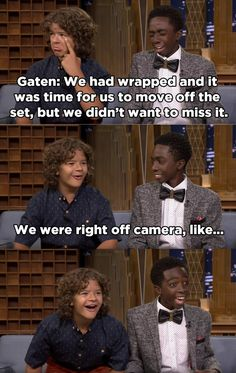 But the most teasing came from their castmates, Gaten Matarazzo and Caleb…
