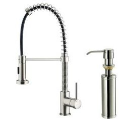 @Overstock.com - VIGO Stainless Steel Pull-Out Spray Kitchen Faucet with Soap Dispenser - Faucet type: Kitchen Number of handles: Single-handleFaucet finish: Stainless steel   http://www.overstock.com/Home-Garden/VIGO-Stainless-Steel-Pull-Out-Spray-Kitchen-Faucet-with-Soap-Dispenser/6006505/product.html?CID=214117 $182.35