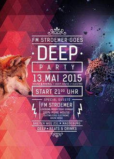 FM STROEMER GOES DEEP 2015 Flyer #Musik #Electro