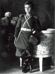 Tsarevich Alexei Nikolaevich of Russia.  (Does anyone have a better version of this pic?)