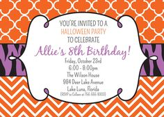 Girlie Halloween Birthday Party Invitation  by graceandglee, $16.00