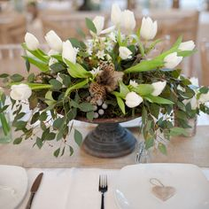 footed urn wedding centrepiece