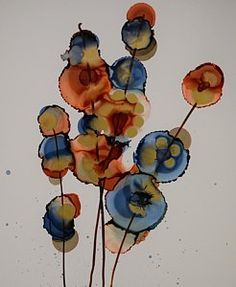 Alcohol Ink Painting - Goldenrod by Beth Kluth