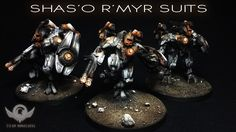 Tau:  Shas'o R'Myr Suits  From Titan Miniatures http://www.lounge.belloflostsouls.net/showthread.php?46996-Large-Tau-project