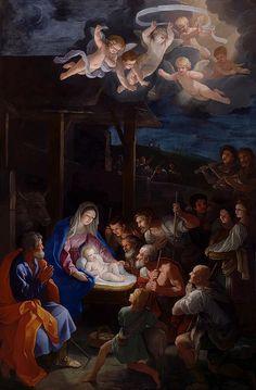 Adoration Of The Shepherds Painting  Guido Reni
