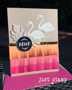 Pop of Paradise Hello Card | Stampin Up! | Just Stamp