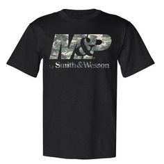M&P by Smith & Wesson Digi Camo Logo Tee Black