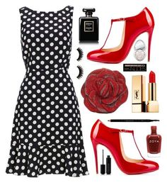 """""""Vintage Vibes"""" by claire394 ❤ liked on Polyvore featuring Christian Louboutin, Judith Leiber, Yves Saint Laurent, Gucci, Marc Jacobs, Chanel, Too Faced Cosmetics, Charlotte Russe and vintage"""