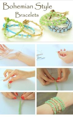 DIY Bohemian Style Bracelts Pictures, Photos, and Images for Facebook, Tumblr, Pinterest, and Twitter