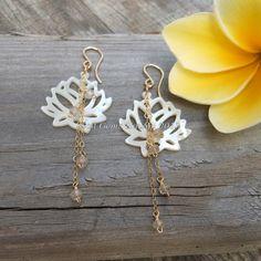 Padma Lotus Earrings by SatiGemsHawaii on Etsy, $45.00