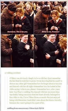 I've never really shipped Ron and Hermione. It's more of Draco, Harry, Cedric, then Victor Krum for me. Harry Potter World, Harry Potter Love, Harry Potter Universal, Harry Potter Fandom, Harry Potter Memes, Potter Facts, Drarry, Movies Quotes, Yer A Wizard Harry