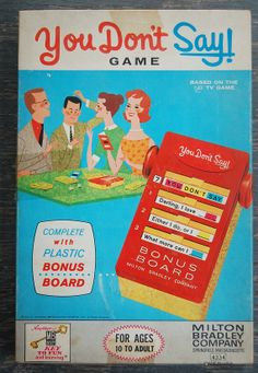 Vintage YOU DON'T SAY Tv Game Show Milton Bradley by WUNDERSTUFF, $6.99