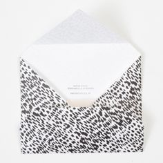 PAPER STOCK Mono Animal Napkin Envelope